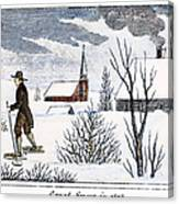 Great Snow Of 1717 Canvas Print