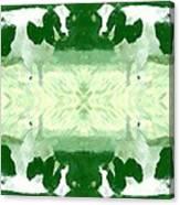 Green Cows Canvas Print