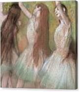 Green Dancers Canvas Print