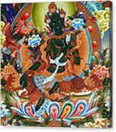 Green Tara 2 Canvas Print
