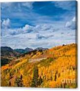 Guardsman Pass In The Fall Canvas Print
