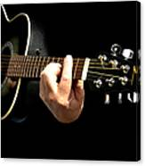Guitar In Hands  Canvas Print
