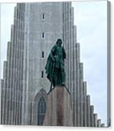 Hallgrimskirkja Church - Reykjavik Iceland  Canvas Print