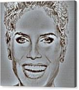 Heidi Klum In 2010 Canvas Print