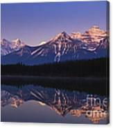 Herbert Lake Sunrise Canvas Print