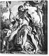 Hercules And Omphale Canvas Print