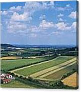 High Angle View Of Fields, Stradbally Canvas Print