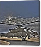 High Dynamic Range Photo Of An  Ah-64d Canvas Print