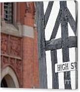 High Street Canvas Print