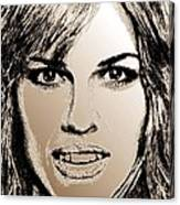 Hilary Swank In 2007 Canvas Print