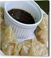 Homemade Potstickers Canvas Print