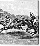 Horse Racing, 1900 Canvas Print