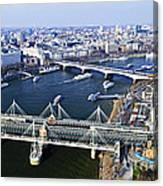 Hungerford Bridge Seen From London Eye Canvas Print