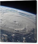 Hurricane Felix Over The Caribbean Sea Canvas Print
