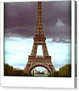 Illustration Of Eiffel Tower Canvas Print