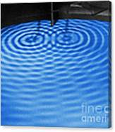 Intersecting Ripples Canvas Print