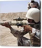 Iraqi Army Sergeant Sights Canvas Print