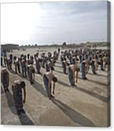 Iraqi Police Cadets Being Trained Canvas Print