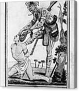 Iroquois Warrior Canvas Print