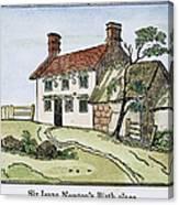 Isaac Newton Birthplace Canvas Print