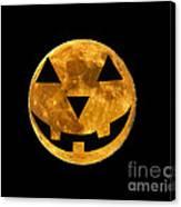 Jack-o-lantern Moon Canvas Print
