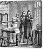 Johann Gutenberg, German Inventor Canvas Print