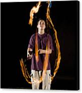 Juggling Fire Canvas Print