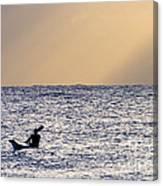 Kayak At Dawn Canvas Print