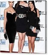 Kim Kardashian, Khloe Kardashian Canvas Print