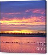 Lagerman Reservoir Sunrise Canvas Print