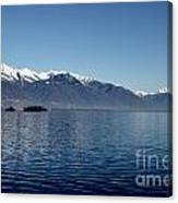 Lake With Snow-capped Mountain Canvas Print