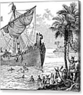 Landing Of Leif Ericsson Canvas Print