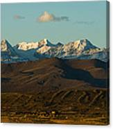 Landscape Of The Highlands And The Cordillera Real. Republic Of Bolivia. Canvas Print