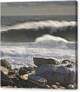 Large Waves Near Pemaquid Point On The Coast Of Maine Canvas Print