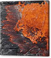 Lava Bursting At Edge Of Active Lava Canvas Print