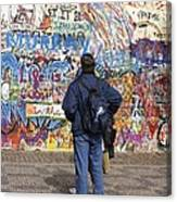 Lennon Wall, Prague Canvas Print