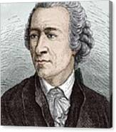 Leonhard Euler, Swiss Mathematician Canvas Print