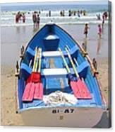 Lifeguard Boat At Ocean City Boardwalk New Jersey Canvas Print