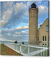 Lighthouse At Mackinac Canvas Print