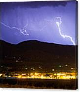Lightning Striking Over Ibm Boulder Co 2 Canvas Print
