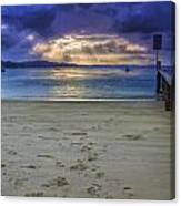 Little Beach Sunset Canvas Print