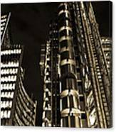 Lloyds Building London In Gold Canvas Print