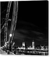 London Eye And London View Canvas Print