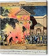 London: Gordon Riots, 1780 Canvas Print