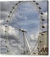 London Skyline Edf Eye  Canvas Print