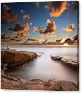 Long Exposure Sunset At A San Diego Canvas Print
