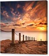 Long Exposure Sunset Taken From The Canvas Print