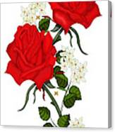 Love Is Like A Red Red Rose Canvas Print