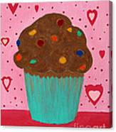 M And M Cupcake Canvas Print