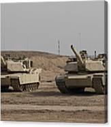 M1 Abrams Tank At Camp Warhorse Canvas Print